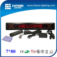 shen zhen factory direct sale good qualty 7*80 gas station led display signs