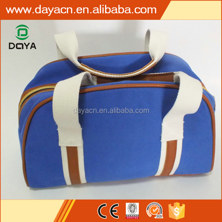 2017 hot sales custom blue travel canvas toiletry bag for men