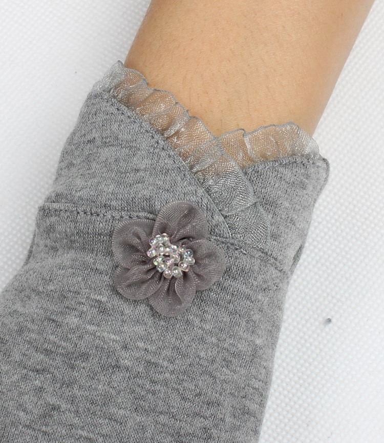 Wholesale Lace Flowers mongolian cashmere gloves women wool gloves