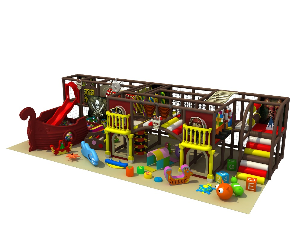 Kids commercial indoor pirate ship playground