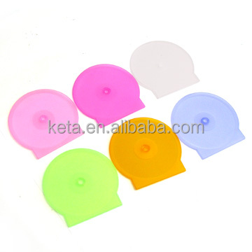 15G Clear Color Slim Small DVD Clam Shell Case, CD Packaging