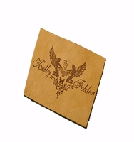 High Quality Custom Logo Hot Stamping Fashion debossed cheap leather label embossed leather patch