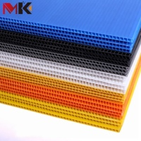 MK OEM & ODM Plastic Honeycomb PP Hollow Sheet Coroplast Board Correx Corflute Sheet