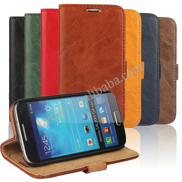 for samsung galaxy s4 mini, for samsung galaxy s4 mini leather flip case