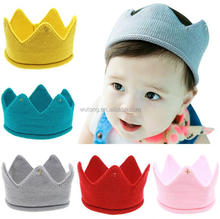 Hot Sale Baby Infant Headwear Hat Crown Knitting Crochet Costume Soft Adorable Clothes Newborns Babies Hat Cap