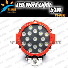 Super bright 51W LED Working Lights for Off road, ATV, SUV, 4x4 led work lamps