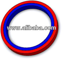 Radially Magnetized Neodymium NdFeB Ring Magnet Bonded