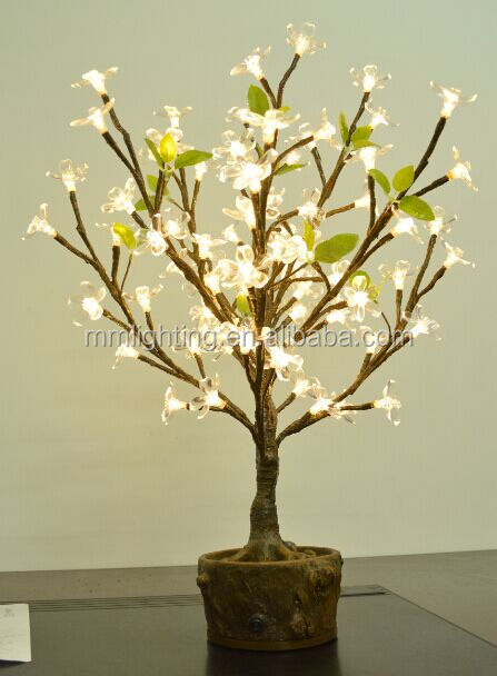 Battery operated led cherry blossom tree light, Holiday home decoration LED bonsai lighted tree