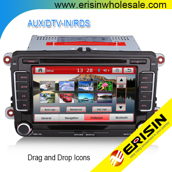 "Erisin ES7298C 7"" Passat Golf 5 Car Audio DVD GPS Navigation System"