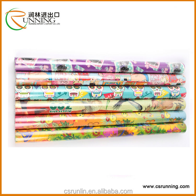 2016 PVC printed self adhesive film for interior trim