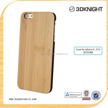 2015 hot sale phone case ,custom natural bamboo For Apple Iphone 6 plus