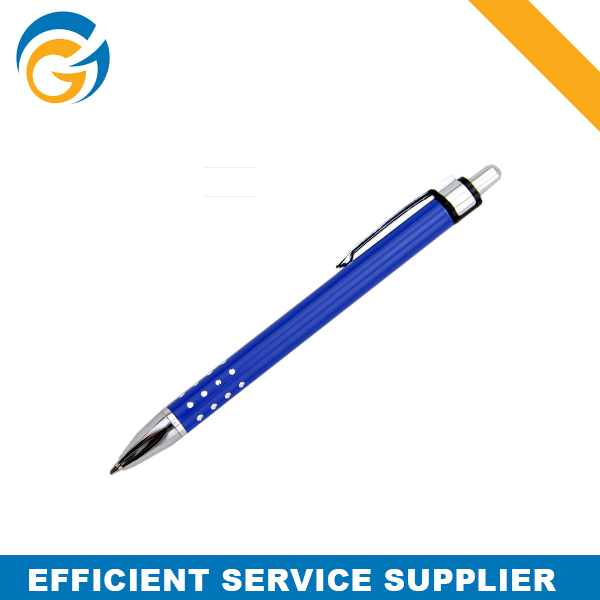 Blue Click Logo Metal Magnetic Pen with Sticky Notes Metal Ball Pen