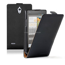 Ultra thin slim leather flip case cover for Huawei Ascend G700