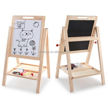 FQ brand 2018 New design wooden magic toddlerh quality wood kids drawing board best folding drawing board