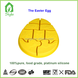 Easter egg Silicone egg shape divided cake pan