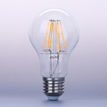 china supplier 2w 4w 6w 8w A60 E27 led lights for home decoration CE UL certs A19 led filament bulb