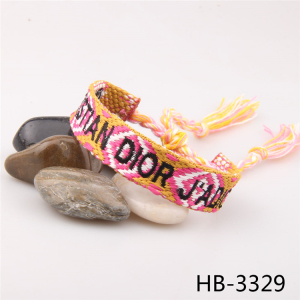 Wholesale charm bracelet letters embroidered ethnic woven bracelet with great price