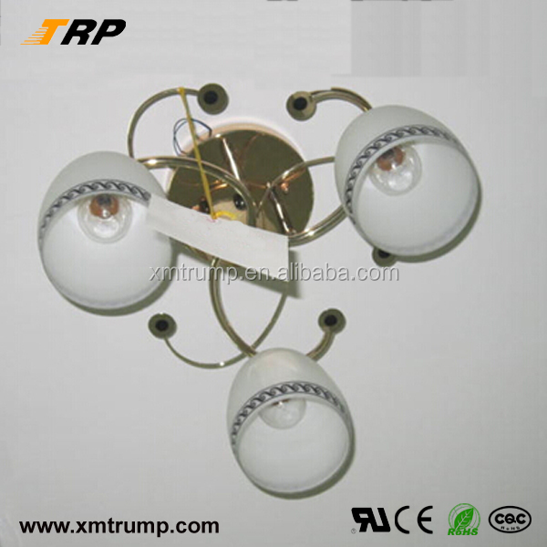 White glass shade decorative modern ceiling rose light fitting