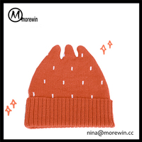 Morewin brand promotion fashion design crazy winter custom hats for girls wholesale