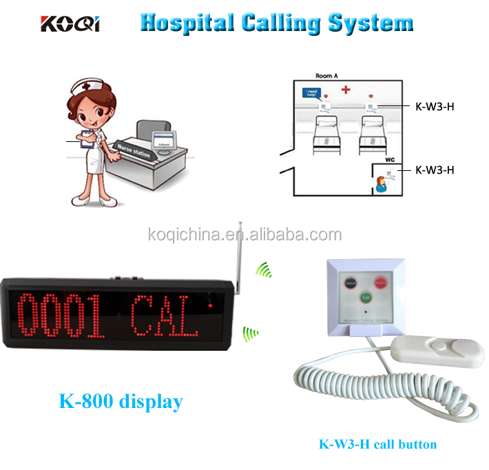Wireless Nurse Call Button With Cancel E,ergency Key K-800+K-W3-H