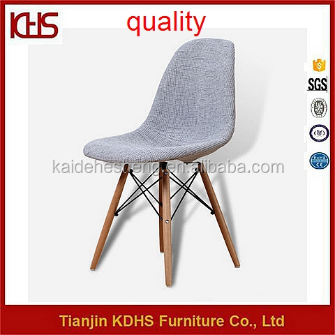 factory vendor fabric covered wooden seated unfolding upholstered dining chair