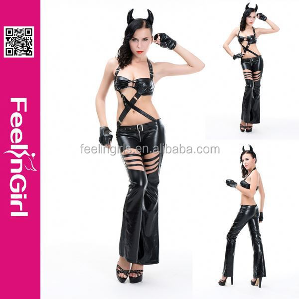 2014 Newest Wholesale 3 Pieces Hot Sex Latex Costume Animal