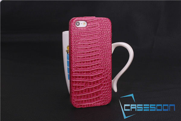 Croco Leather Flip Case For iPhone 5 5G Leather Case