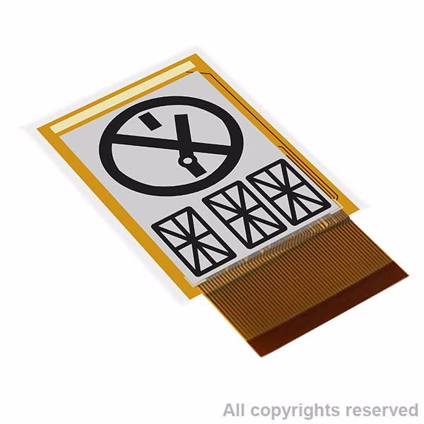 e-ink customized segment type e paper display,Application