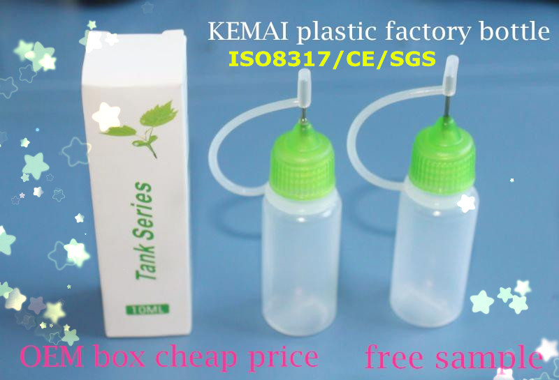15ml needle nose squeeze bottle/ plastic bottles with sharp tip=KEMAI ISO8317 PET/PE bottle top quality since 2003