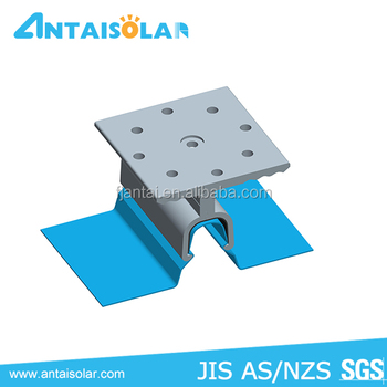 AS/NZS 1170 verified standing seam metal roof solar mounting system