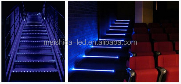 LED Strip Light Aluminum LED Profile For Step/stair Nosing Light