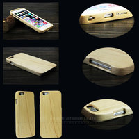 blank wood cover for iphone6 plus wooden bamboo phone case