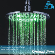 JFQ042CP Round 8 inch Brand new Unique Hydro power shower head led