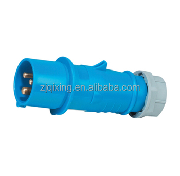 IP67 waterproof industrial plug and socket 16A 2P+E 230v