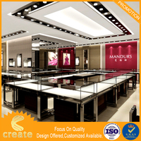 Elegant High Grade Jewelry Display Acrylic Mdf Showcase
