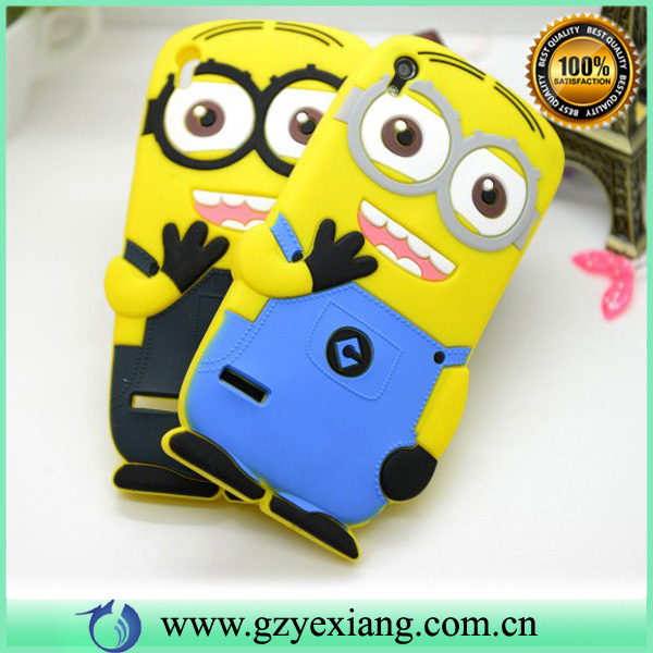 Despicable me silicon cute case for huawei ascend p6