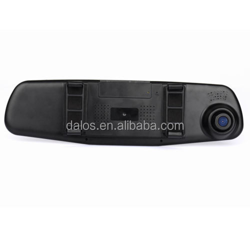 1080p dual camera rearview mirror car recorder mirror monitor with dash cam