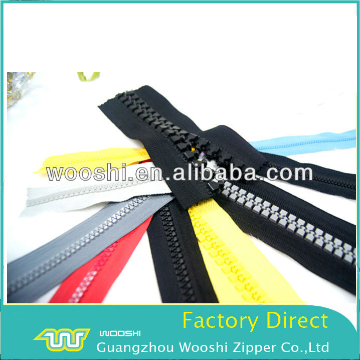 No.5 High Quality Resin/Delin/plastic zipper,colored Teeth tape as your request