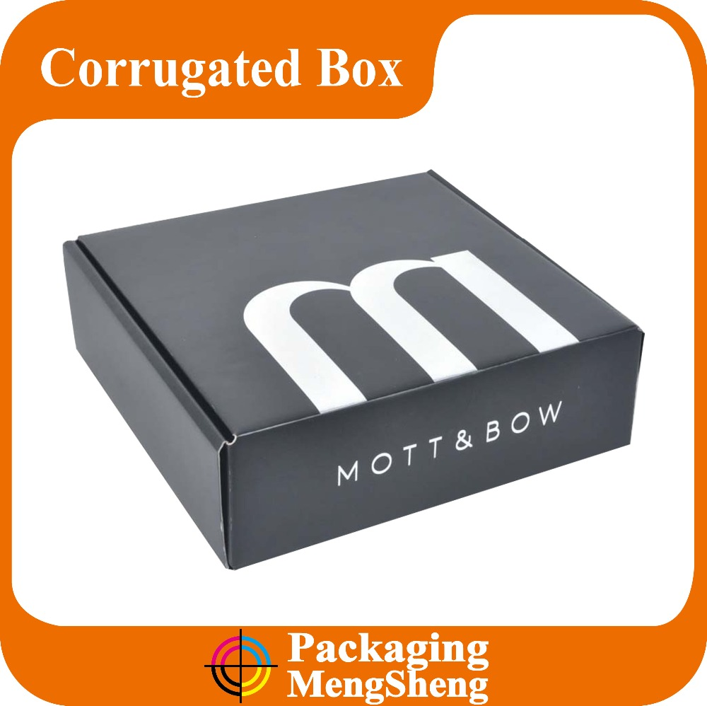 matte black custom printing corrugated shipping mailer box wholesale