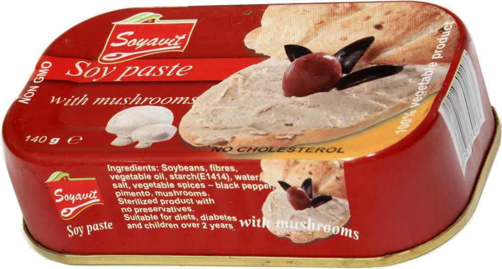 Soy paste (pate) with mushrooms