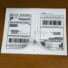 Self-adhesive shipping label