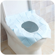 Blue Plastic Disposable Toilet Seat Cover