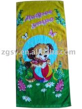 Wholesale Popular Velour Cartoon Printed Beach Towel