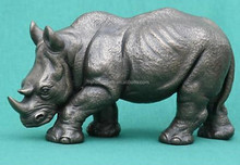 bronze rhinoceros sculpture