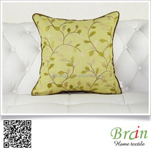 brand flower embroidery cushion