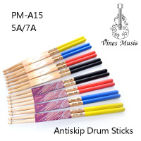 5A/7A Lightweight Colorful Anti Skid Maple Drum Sticks with wood tip