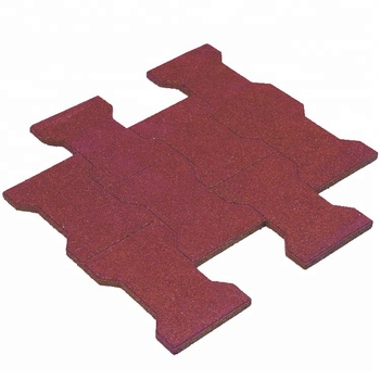 Interlocking Rubber Tiles,1100*1100*20mm playground rubber tiles