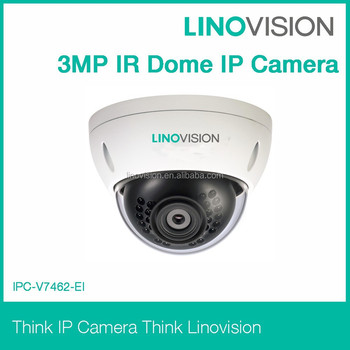 3MP Dome Outdoor cctv IP camera with IR LED and PoE