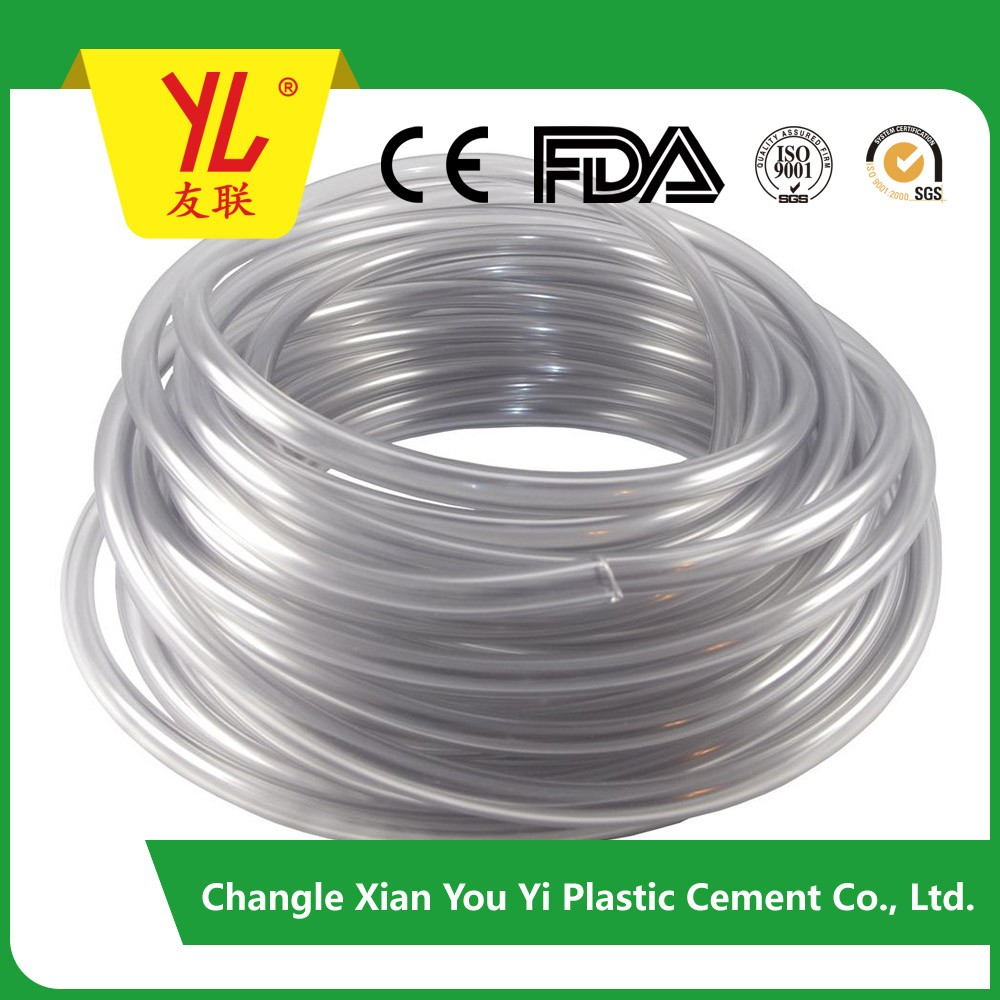 Food Grade Flexible PVC Clear hose, Small Clear Plastic Tube, PVC Clear Drinking Water