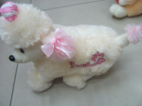 stuffed toy white dog /so lovely stuffed dog / Valentines Gift for lover